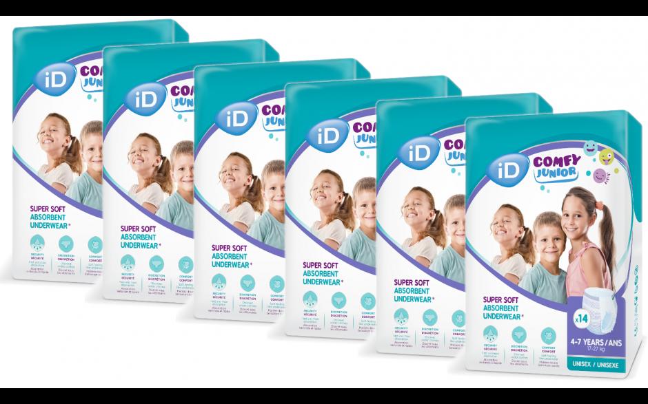 iD Comfy Junior pants 4-7 Jahre - Großpackung