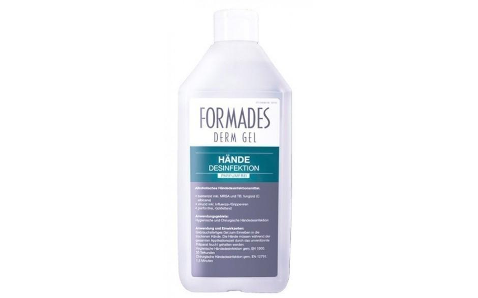 FORMADES DERM GEL - Händedesinfektion - parfümfrei - 20 x 500 ml