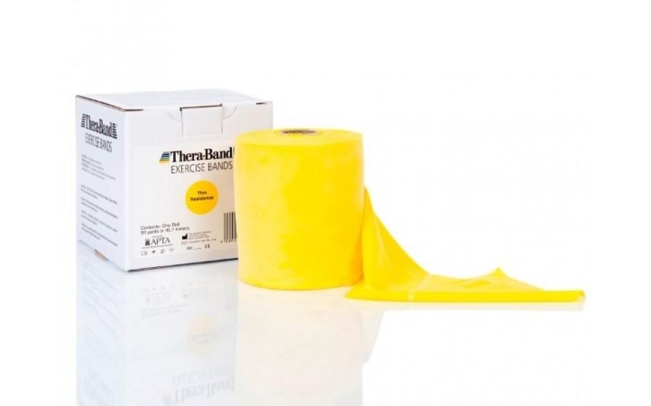 Thera-Band Übungsband, 45,5 m, leicht/gelb