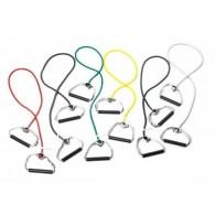 Thera-Band Bodytrainer Tubing mit festem Griff in 5 Widerstandsstufen